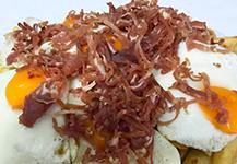Cafetería Ámsterdam - Huevos con jamón - Almería - Adra Kmcero